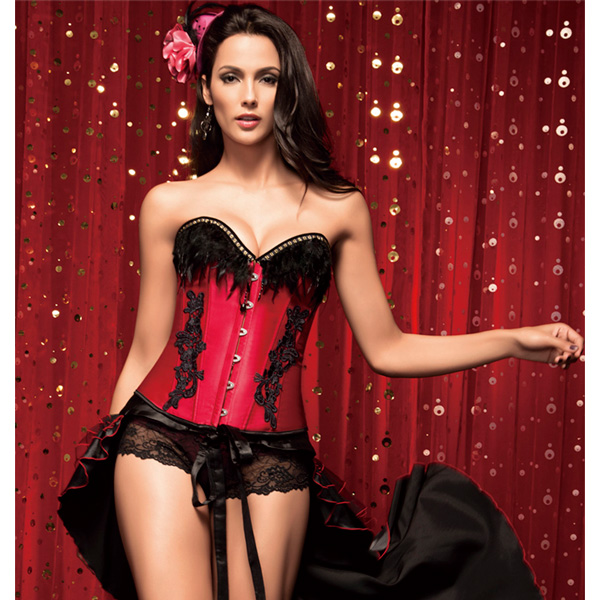 Corset with Feathers BC1362